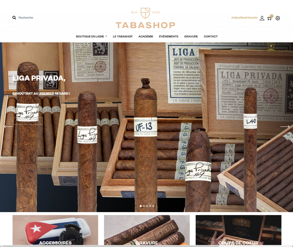 acheter des cigares sur internet sur tabashop